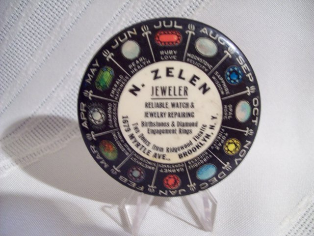 N. Zelen Jewel Pocket Mirror
