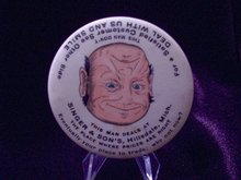 SINGER & SON'S Smile/Frown  Face Pocket Mirror