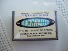 BUCKWALTER STOVE Match Box Holder - Match Safe