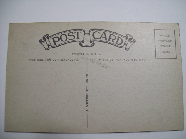 MUTOSCOPE POST CARD
