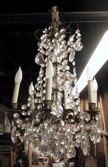 Antique Crystal Beaded Chandelier