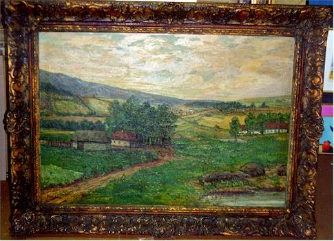 Dvorak, Oil Painting Landscape c 1940