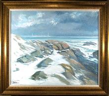 John Nesta, Seascape, Oil Painting
