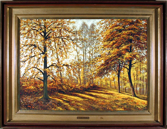 Willy Seiler Original Oil on Canvas Landscape