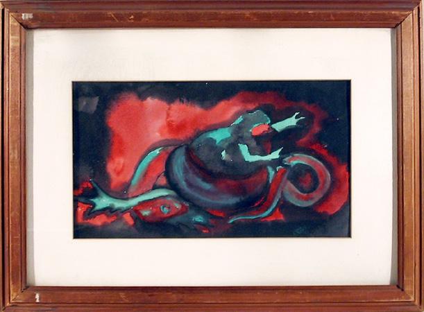 A. Van Loen Original Watercolor Painting, 1947