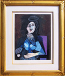 Pablo Picasso Lithograph, Femme Assise
