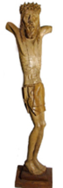 A.V. Dimancas Haitian Sculpture of Jesus, 1961