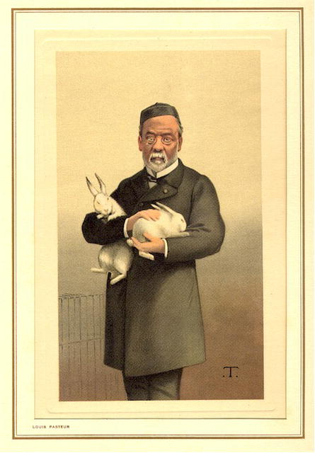 19th Century Spy Caricature,  Louis Pasteur