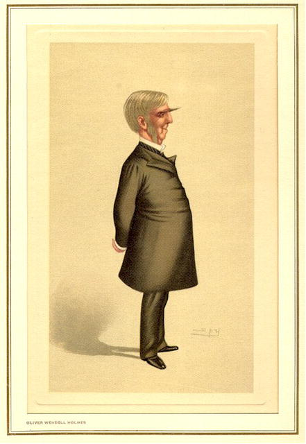 19th Century Spy Caricature,  Oliver Wendell