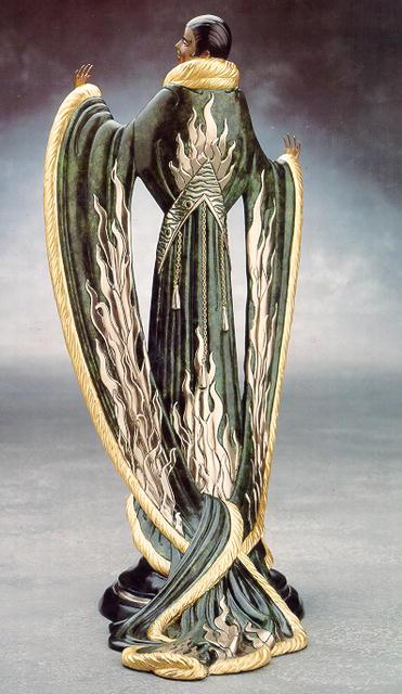 Erte Bronze Sculpture, Femme de Luxe, 1983
