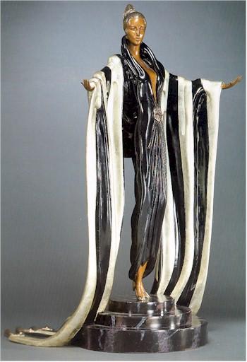 Erte Bronze Sculpture, Monaco, 1989