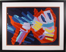 Karel Appel Signed Framed Lithograph