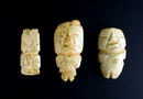 Pre-Colombian 3 Stone Figures, 15th Century