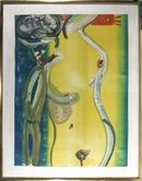 Romare Bearden, Unique Mono Print, Nude