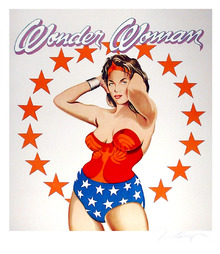 Mel Ramos Wonder Woman, Signed Lithograph