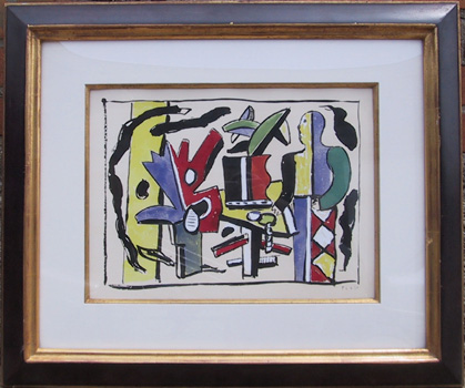 Fernand Leger Color-Pochoir, 1953