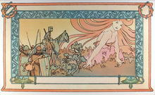 Alphonse Mucha, Lithograph, Soldiers Dream