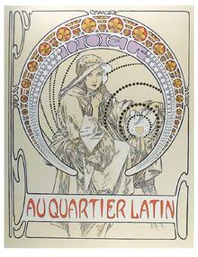 Alphonse Mucha, Lithograph, Au Quartier Latin