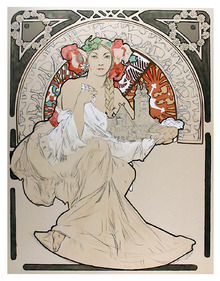 Alphonse Mucha, Lithograph, Lovely Protector