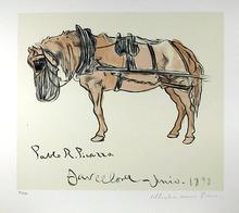 Pablo Picasso Lithograph, Cheval Attele
