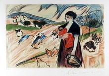 Pablo Picasso Lithograph, Paysanne et Enfant