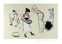 Pablo Picasso Lithograph, Etude de Personnages