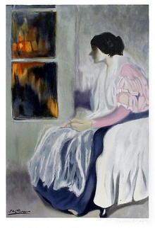 Pablo Picasso, Lithograph, La Soeur de L'Artist
