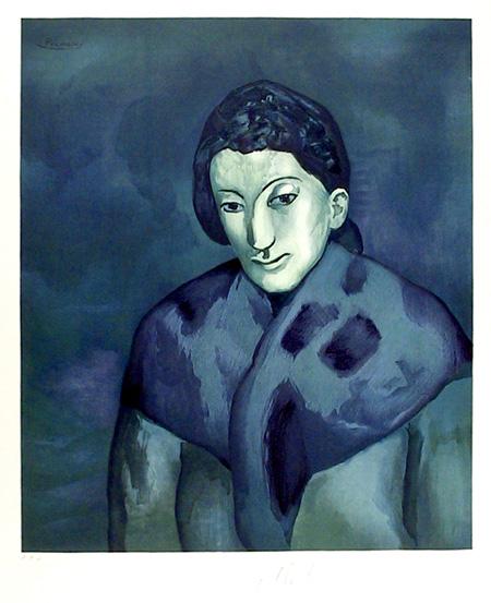 Pablo Picasso, Lithograph, Buste de Femme