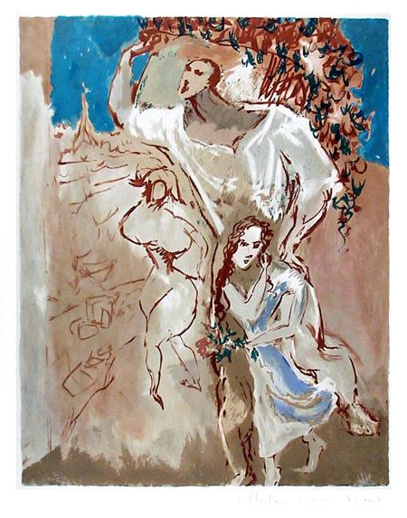 Pablo Picasso, Lithograph, Etude de Personnages