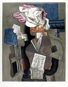 Pablo Picasso, Lithograph, Personnage et