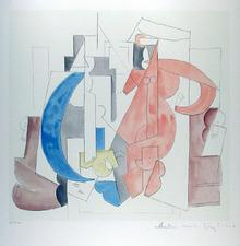 Pablo Picasso, Lithograph, Cubist Composition