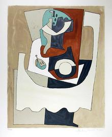 Pablo Picasso Lithograph, Nature Motre Cubist