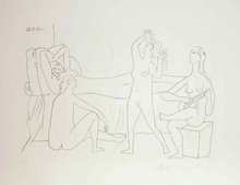 Pablo Picasso Lithograph, Quatre Nus au Harem