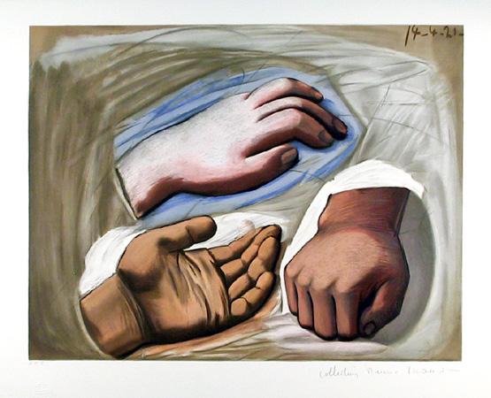 Pablo Picasso Lithograph, Etude de Main