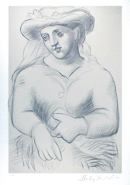 Pablo Picasso Lithograph, Femme au Chapeau
