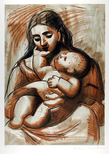 Pablo Picasso, Lithograph, Maternitie