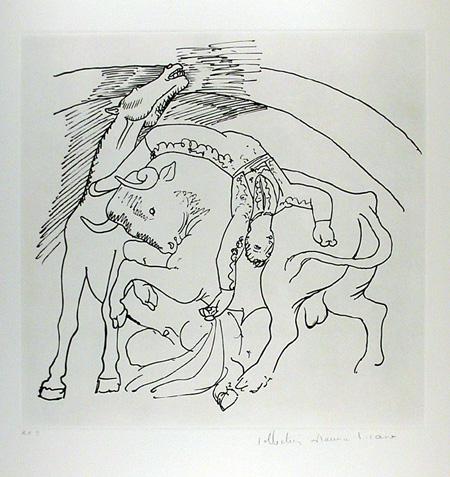 Pablo Picasso Lithograph, Taureau et Cheval
