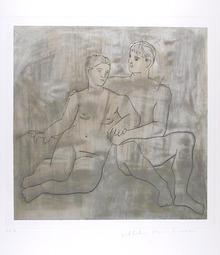 Pablo Picasso Lithograph, Le Entretien