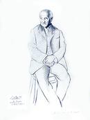 Pablo Picasso Lithograph, Portrait du Maitre