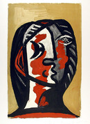 Pablo Picasso Lithograph, Tete de Femme