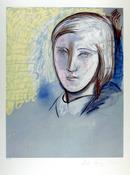 Pablo Picasso Lithograph, Portrait of Marie