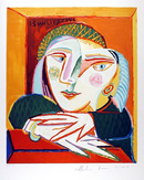 Pablo Picasso Lithograph, Femme Accoudee