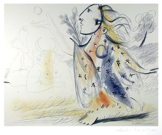 Pablo Picasso Lithograph, Minotaure et Femme