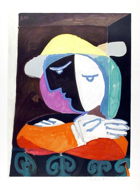 Pablo Picasso Lithograph, Femme au Balcon