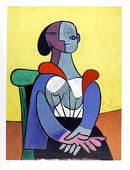 Pablo Picasso Lithograph, Femme A La Chaise