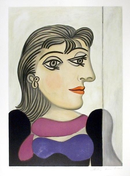 Pablo Picasso Lithograph, Buste de Femme Au