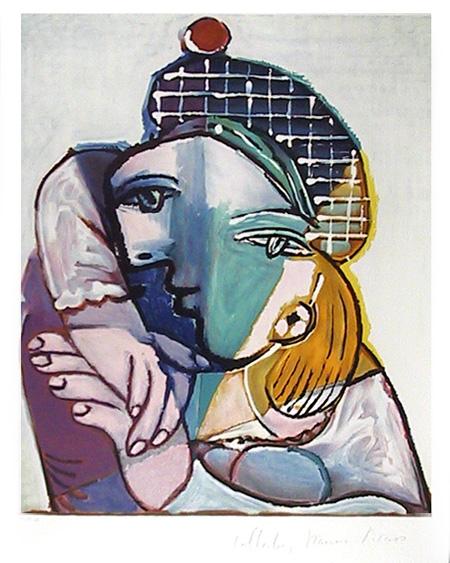 Pablo Picasso Lithograph, Portrait se Femme