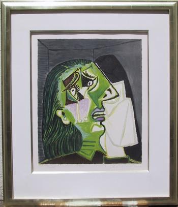 Pablo Picasso Lithograph, Femme au Mochoir