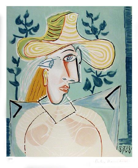 Pablo Picasso Lithograph, Femme a la Collerette