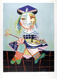 Pablo Picasso Lithograph, Fillette Au Bateau